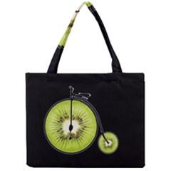 Kiwi Bicycle  Mini Tote Bag by Valentinaart
