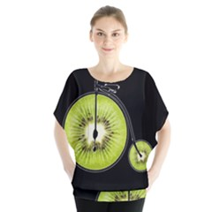 Kiwi Bicycle  Blouse by Valentinaart