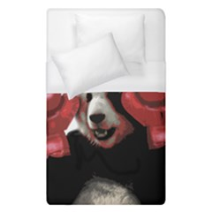 Boxing Panda  Duvet Cover (single Size) by Valentinaart