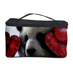 Boxing Panda  Cosmetic Storage Case by Valentinaart