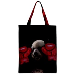 Boxing Panda  Zipper Classic Tote Bag by Valentinaart