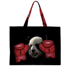 Boxing Panda  Zipper Large Tote Bag by Valentinaart