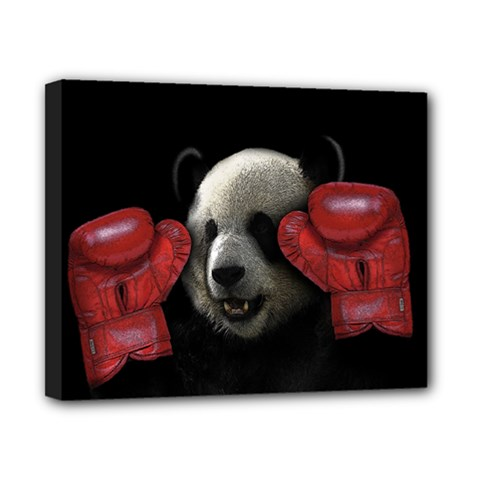 Boxing Panda  Canvas 10  X 8  by Valentinaart