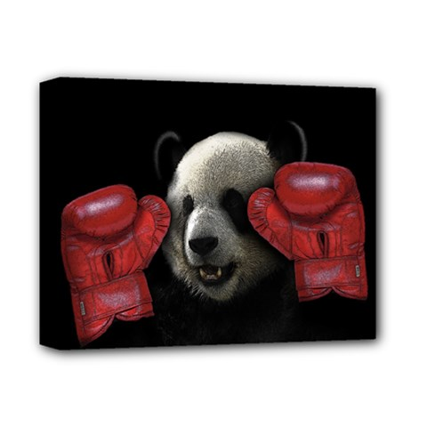 Boxing Panda  Deluxe Canvas 14  X 11  by Valentinaart