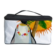 Tropical Penguin Cosmetic Storage Case by Valentinaart