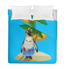 Tropical Penguin Duvet Cover Double Side (full/ Double Size) by Valentinaart