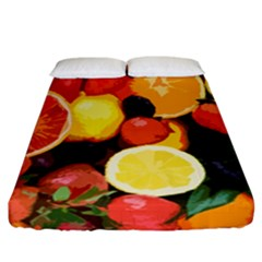 Fruits Pattern Fitted Sheet (california King Size) by Valentinaart