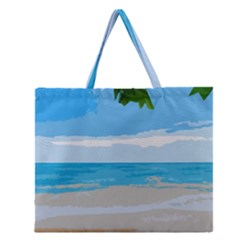 Landscape Zipper Large Tote Bag by Valentinaart