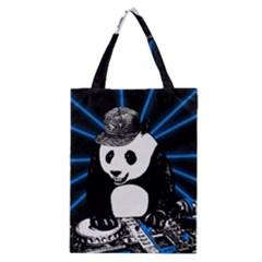 Deejay Panda Classic Tote Bag by Valentinaart