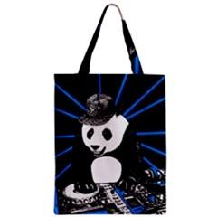 Deejay Panda Zipper Classic Tote Bag by Valentinaart