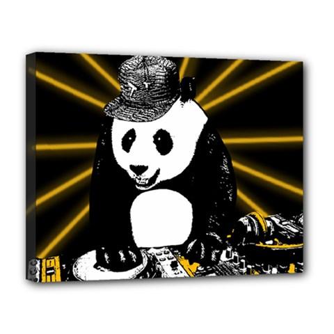 Deejay Panda Canvas 14  X 11  by Valentinaart