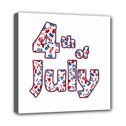 4th Of July Independence Day Mini Canvas 8  X 8  by Valentinaart