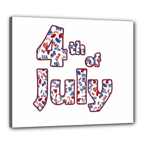 4th Of July Independence Day Canvas 24  X 20  by Valentinaart