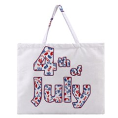 4th Of July Independence Day Zipper Large Tote Bag by Valentinaart