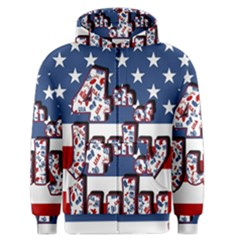 4th Of July Independence Day Men s Zipper Hoodie by Valentinaart