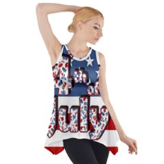 4th Of July Independence Day Side Drop Tank Tunic by Valentinaart