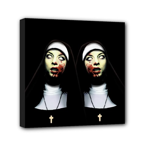 Horror Nuns Mini Canvas 6  X 6  by Valentinaart