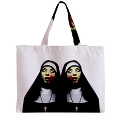 Horror Nuns Medium Tote Bag by Valentinaart