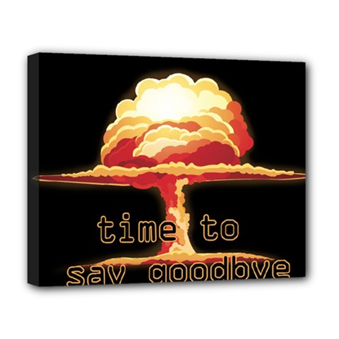 Nuclear Explosion Deluxe Canvas 20  X 16   by Valentinaart