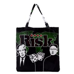 Nuclear Explosion Trump And Kim Jong Grocery Tote Bag by Valentinaart