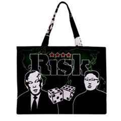 Nuclear Explosion Trump And Kim Jong Zipper Mini Tote Bag by Valentinaart
