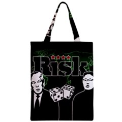 Nuclear Explosion Trump And Kim Jong Zipper Classic Tote Bag by Valentinaart