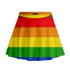 Philadelphia Pride Flag Mini Flare Skirt by Valentinaart