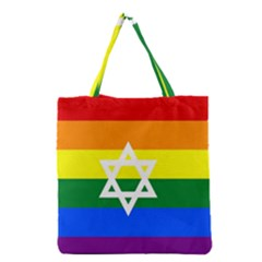 Gay Pride Israel Flag Grocery Tote Bag by Valentinaart