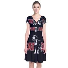 Great Dane Short Sleeve Front Wrap Dress