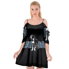 Great Dane Cutout Spaghetti Strap Chiffon Dress by Valentinaart