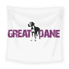 Great Dane Square Tapestry (large) by Valentinaart