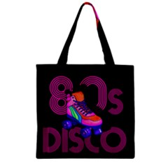 Roller Skater 80s Zipper Grocery Tote Bag by Valentinaart