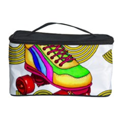 Roller Skater 80s Cosmetic Storage Case by Valentinaart