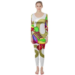 Roller Skater 80s Long Sleeve Catsuit by Valentinaart