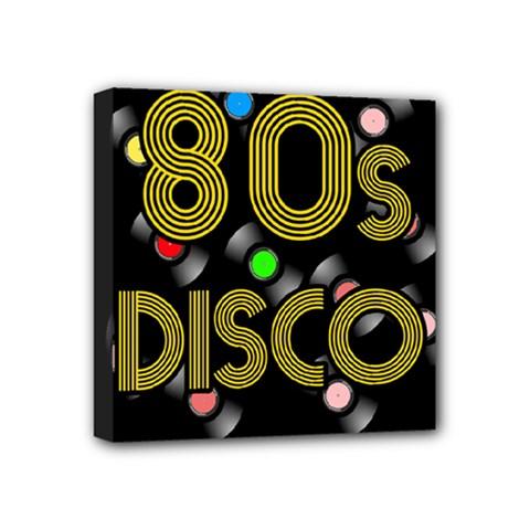 80s Disco Vinyl Records Mini Canvas 4  X 4  by Valentinaart