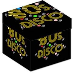 80s Disco Vinyl Records Storage Stool 12   by Valentinaart