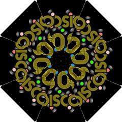 80s Disco Vinyl Records Hook Handle Umbrellas (small) by Valentinaart