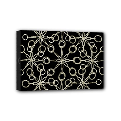 Ornate Chained Atrwork Mini Canvas 6  X 4  by dflcprints