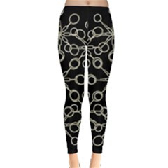 Ornate Chained Atrwork Leggings  by dflcprints