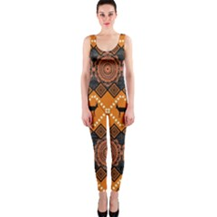 Traditiona  Patterns And African Patterns Onepiece Catsuit by Onesevenart