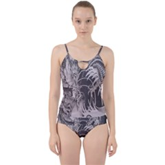 Chinese Dragon Tattoo Cut Out Top Tankini Set