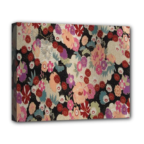 Japanese Ethnic Pattern Deluxe Canvas 20  X 16   by Onesevenart