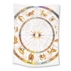 Zodiac  Institute Of Vedic Astrology Medium Tapestry by Onesevenart