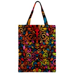 Art Traditional Pattern Zipper Classic Tote Bag by Onesevenart