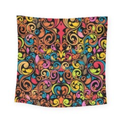 Art Traditional Pattern Square Tapestry (small) by Onesevenart
