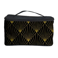 Abstract Stripes Pattern Cosmetic Storage Case by Onesevenart