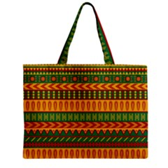 Mexican Pattern Zipper Mini Tote Bag by Onesevenart