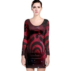 Bassnectar Galaxy Nebula Long Sleeve Bodycon Dress by Onesevenart