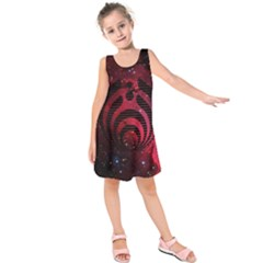 Bassnectar Galaxy Nebula Kids  Sleeveless Dress by Onesevenart