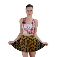 Bring Me The Horizon Cover Album Gold Mini Skirt by Onesevenart